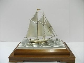 The Sailboat Of Silver960 Of The Most Wonderful Japan.  2masts.  Takehiko ' S Work. photo