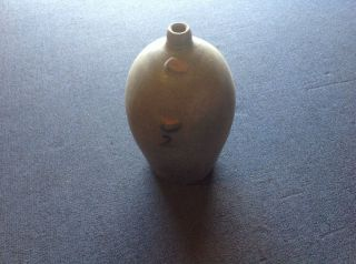 Antique 2 Gal Stoneware Salt Glaze Jug Cobalt Blue Floral photo