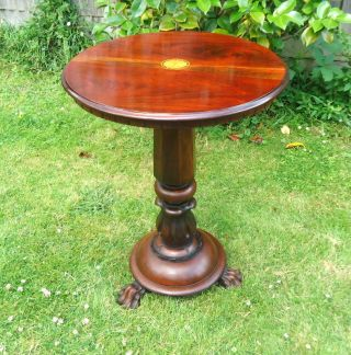 Regency.  Occasional Table,  Wine Table Mounted On Lions Paw Feet.  Mahogany C1820. photo