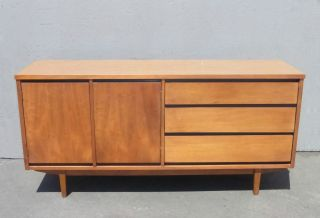 Vintage Danish Mid Century Modern Credenza By Stanley Mfg Co.  Sideboard Buffet photo