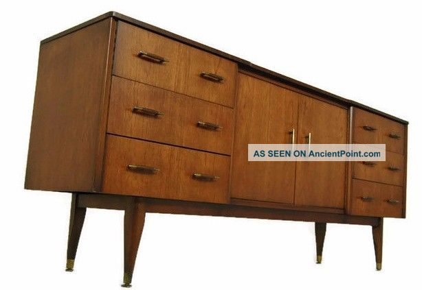 Mid Century Credenza,  Media Console With Stylish Pulls And Elegant Design,  Mcm. See more Mid Century Credenza Media Console With Stylis... photo