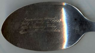 Silverplated Souvenir Spoon - 1958 St.  Lawrence Seaway - Cornwall photo
