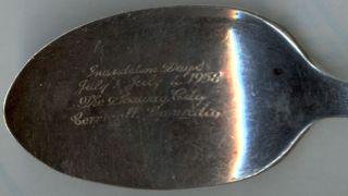 Silverplated Souvenir Spoon - 1958 St.  Lawrence Seaway - Cornwall photo