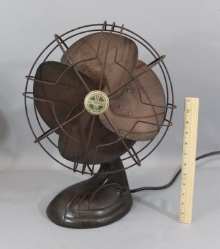 Antique 1936 Art Deco Westinghouse,  3 Speed Oscillating Electric Fan,  Nr photo