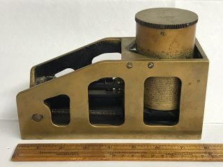 Vintage E R Watts & Son Clinometer World War Era London Brass Instrument Tool photo