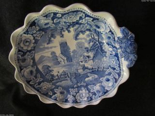Antique Pottery 19thc Dish Spode Ridgeway Rogers Stubbs Rodgers Village Church photo