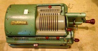 Vintage Very Rare Antique Triumphator Calculator Mechanical Real Machine photo
