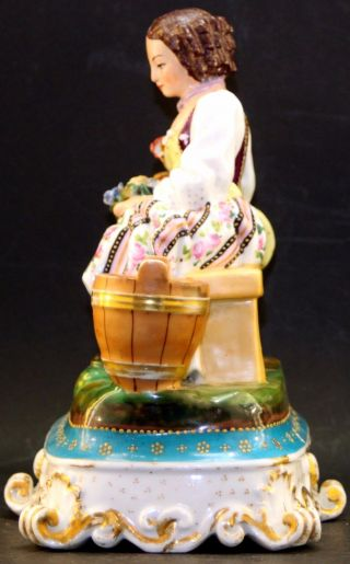 Antique Porcelain Figurine Signed Jp = Jacob Petit,  Fontainebleau photo