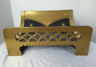 Antique Log Holder Brass Coal Wood Hod Scuttle Repousse 18 3/8