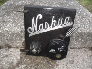 Vintage Nashua Wood Stove Heavy Cast Iron Door photo