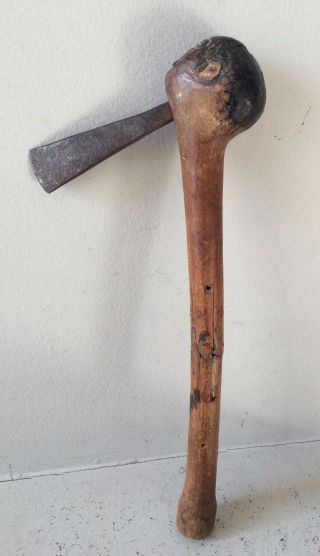 Small Axe From Angola - African Ethnic Tribal Antique Knife Sword Dagger photo