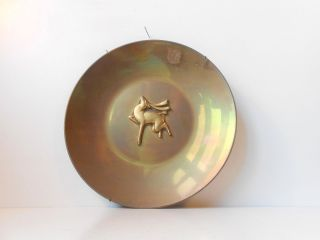 Rare Danish 1940s Art Deco Bronze Bowl Rainbow Patina Tinos Just Svm Handarbete photo