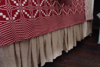 Family Heirloom Weavers Tobacco Cloth Bedskirt Queen photo