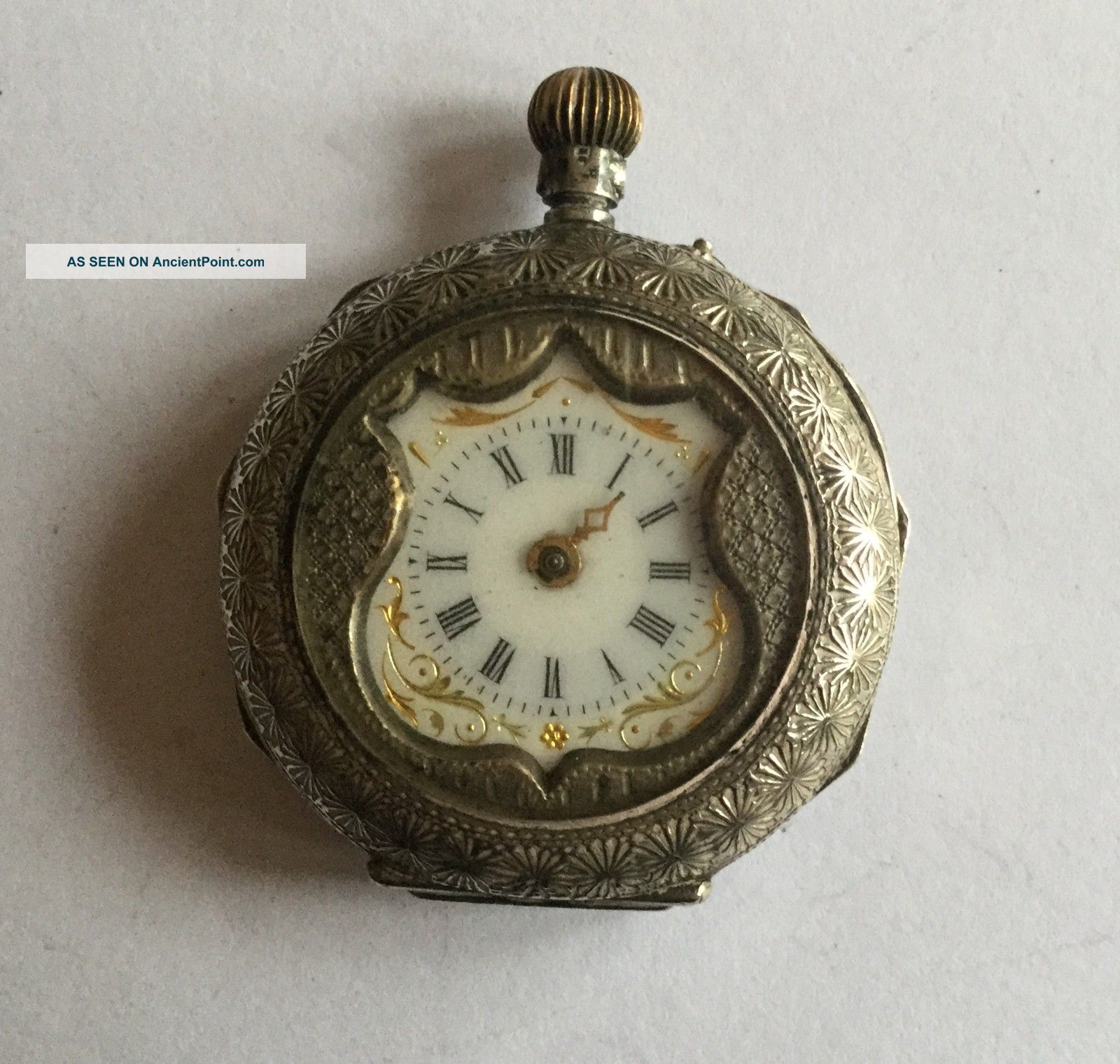 Antique (1909) Ladies Pocket Watch - Repair Or Scrap Pocket Watches/Chains/Fobs photo