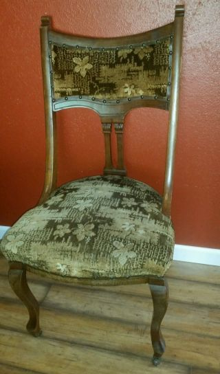 Antique Late 1800 ' S Victorian Eastlake Walnut Parlor Chair photo