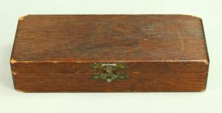 Antique Wooden Dental Drill Bit Accessory Box Dentist Medical Medicine photo