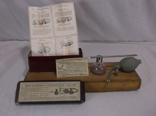 Antique Medical Devilbiss Atomizer No.  16 Pat.  1902 Devices Paperwork photo