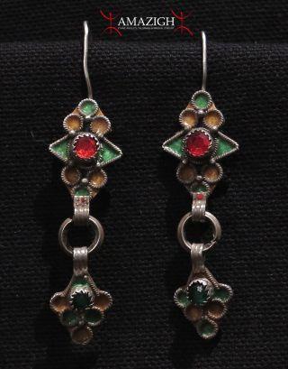 Old Berber Earrings - Tiznit Region,  South Morocco photo