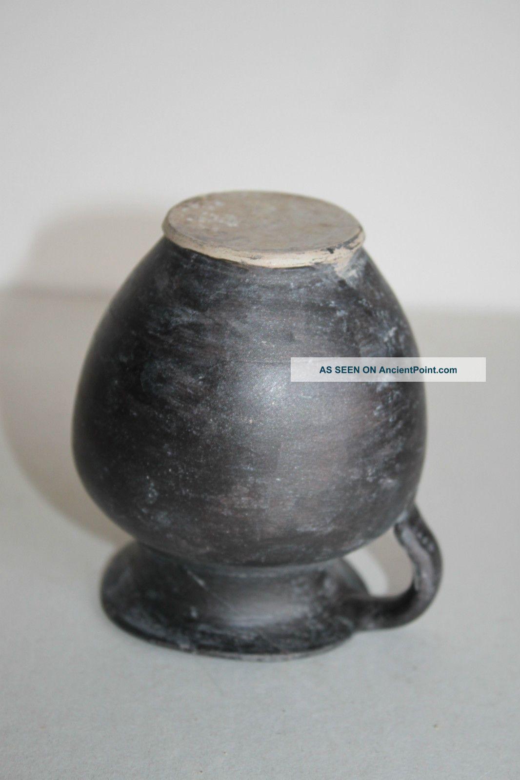 Ancient Greek Hellenistic Pottery Olpe Mug 4/3rd Century Bc Greek photo