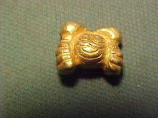 Sassanian Gold Amulet (crab) Circa 224 - 642 Ad photo