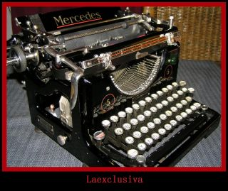 Mercedes 5 Typewriter Of 1927 - Cursive Italic Script Font ;90 Years Old. photo