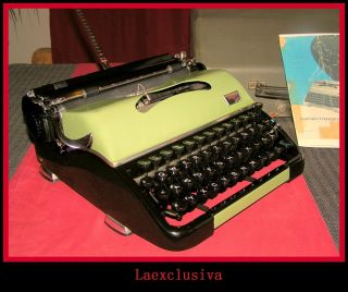 Fabulous Groma N Typewriter.  1950s.  Two Tone:apple Green - Black. photo