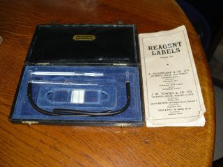 Vintage Hawksley Crista Cased Medical Instrument,  Brady & Martin Ltd & Reagent L photo