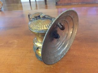 Antique Miner ' S Head - Lamp By Auto Lite photo