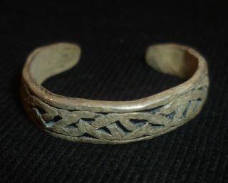 Viking Ancient Silver Ring Circa 700 - 800 Ad - 3477 photo