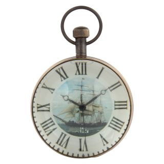 Artshai 3 Inch Size Antique Look Table Clock,  Made From Brass,  Desk Clock photo