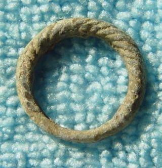 Stunning Ancient Viking Scandinavian Bronze Ring 8 - 10th Century Ad Ref.  917 photo