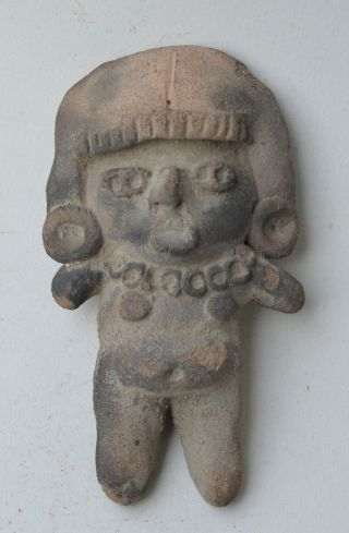 Mexico Michoacan Idol Figure Terracotta Pottery Pre Columbian. photo