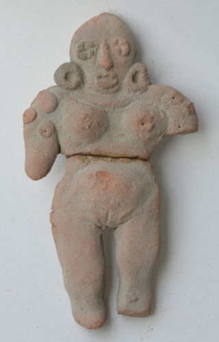 West Mexico Idol Figure Early Terracotta Pottery Pre Columbian. photo
