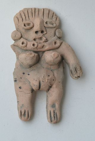 Central Mexico Idol Figure Early Terracotta Pottery Pre Columbian. photo