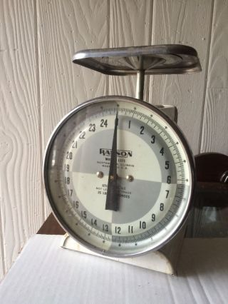 Antique Scale Hanson Family Household Utility 25 Pound Model 1371 Usa photo