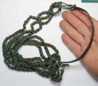 Ancient Viking Bronze Neck Decoration,  Chains,  Big Size Massive photo