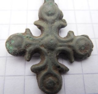Viking Period Bronze Cross 900 - 1300 Ad Vf, photo