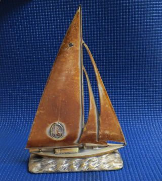 1939 York World ' S Fair Jennings Art Nouveau Sailing Sloop photo