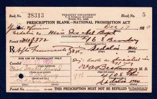 Prohibition Whiskey Egg Nog Isabel Prescription Old Pharmacy Doctor Bar 1920 photo