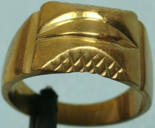 20th C.  Gold Plated Silver Ring photo