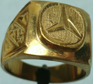 20th C.  Gold Plated Silver Ring,  Mercedes photo