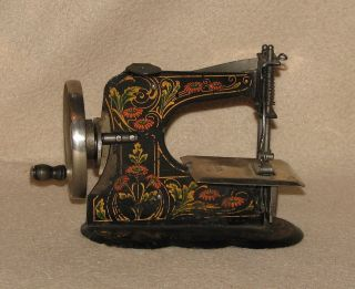Antique German D.  R.  G.  M.  (casige?) Miniature Child ' S Toy Sewing Machine photo