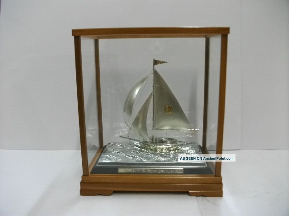 The Sailboat Of Silverep Of The Most Wonderful Japan.  A Japanese Antique. Other Antique Silverplate photo