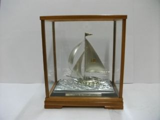 The Sailboat Of Silverep Of The Most Wonderful Japan.  A Japanese Antique. photo