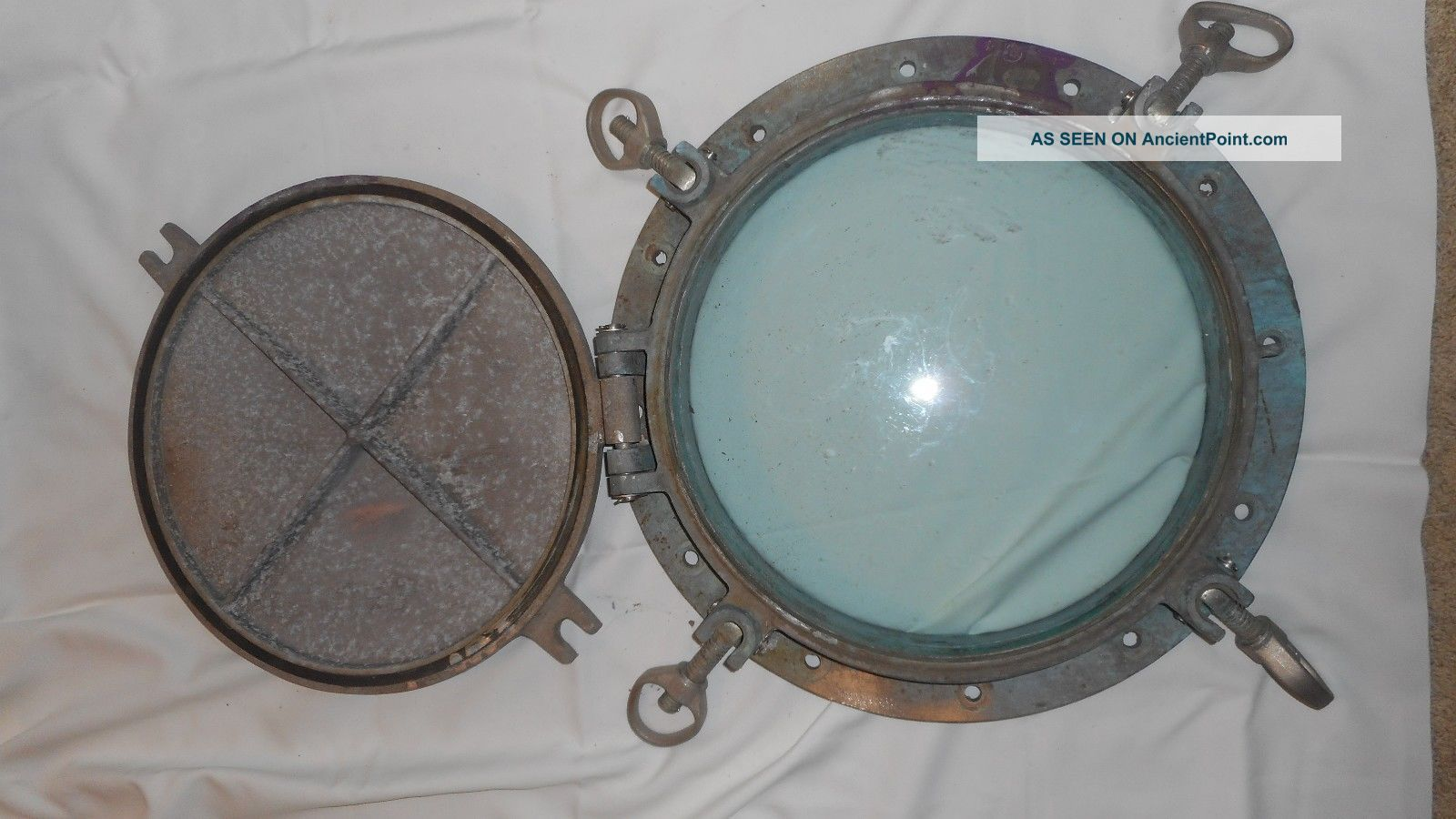 Vintage Nautical Porthole - Brass Or Bronze Portholes photo
