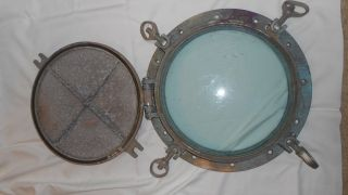 Vintage Nautical Porthole - Brass Or Bronze photo