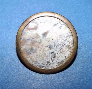 Rare Large 18th Century Antique Agate Stone Button photo