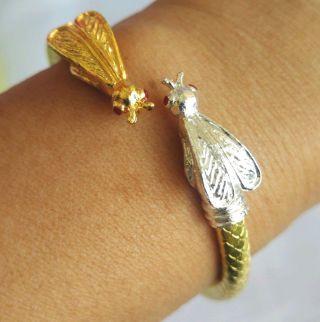 Bracelet Wasp Money Gold Talisman Good - Business Wealthy Infinity Thai Amulet photo