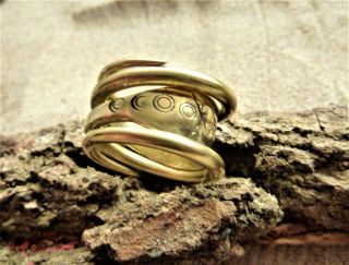 Ancient Viking Bronze Ring (1146). photo