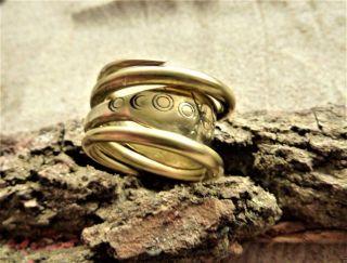 Ancient Viking Bronze Ring (1146). photo